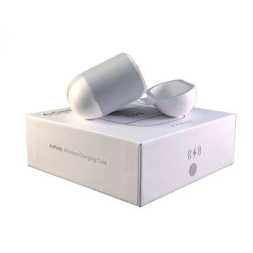 Merkloos AirPods Qi Case (Grijs) - Apple AirPods Draadloos Opladen