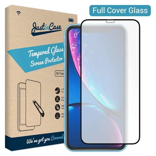 Just in Case Full Cover Tempered Glass Apple iPhone Xr (Zwart)