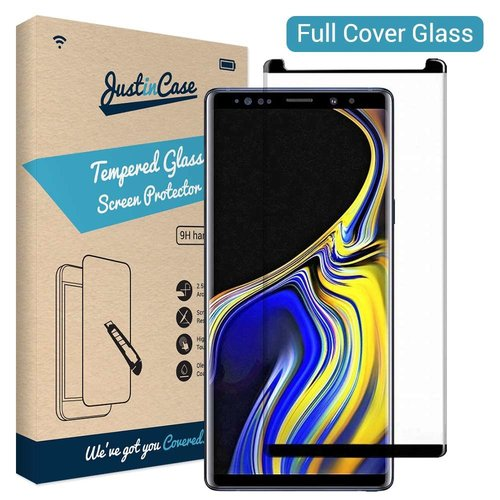 Just in Case Open Full Cover Tempered Glass Samsung Galaxy Note 9 (Zwart)
