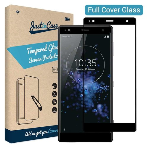 Just in Case Full Cover Tempered Glass Sony Xperia XZ2 (Zwart)