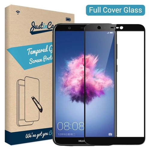 Just in Case Full Cover Tempered Glass Huawei P Smart 2018 (Zwart)