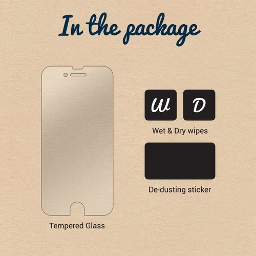 Just in Case Full Cover Tempered Glass Apple iPhone 7 Plus / 8 Plus (Zwart)