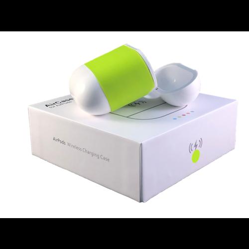 Merkloos AirPods Qi Case (Groen) - Apple AirPods Draadloos Opladen
