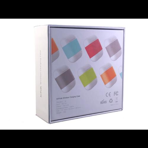 Merkloos AirPods Qi Case (Blauw) - Apple AirPods Draadloos Opladen