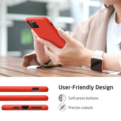 Apple iPhone 11 Pro Max Yippee Color Case (Rood)