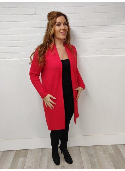 cb3570dbd183e1 Vest lang lux dikke stof rood