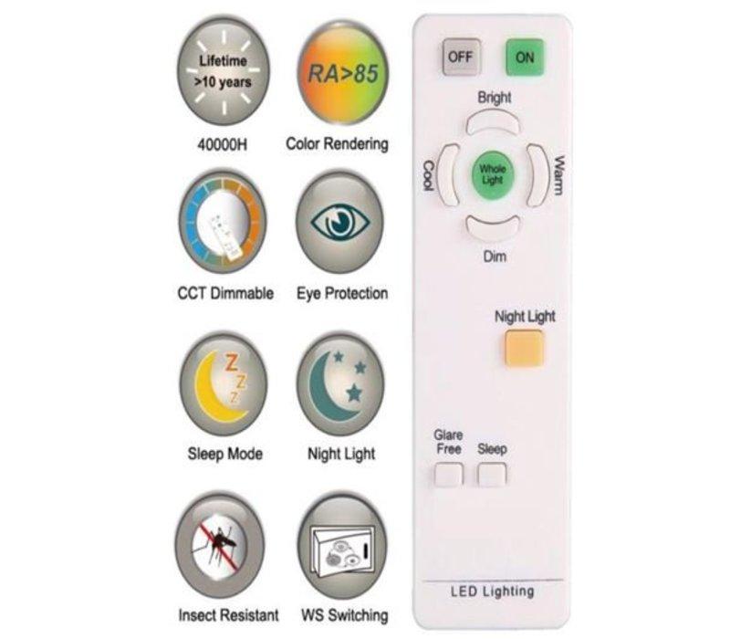 28W, Lichtfarbe:  4 Stufen, DL-C103TX, Sky Glitzereffekt, steuerbar mit Fernbedienung