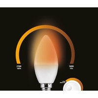 Wellmax E14 C37 dim to warm
