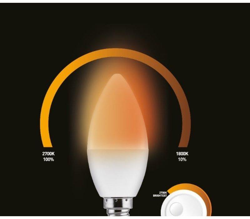 Wellmax E14 C37 dim to warm - 12 pcs