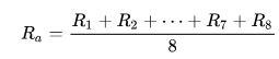 Ra Mittelwert formula