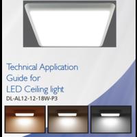 18W, 30x30cm, Lichtfarbe: 3 Stufen einstellbar, DL-AL12-12-18W-P3