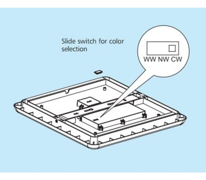 30W, 40x40cm, Lichtfarbe: 3 Stufen einstellbar, DL-AL12-16-30W-P3
