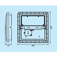 12W, 25x25cm, Bewegungsmelder, DL-AL12-10-12W-S