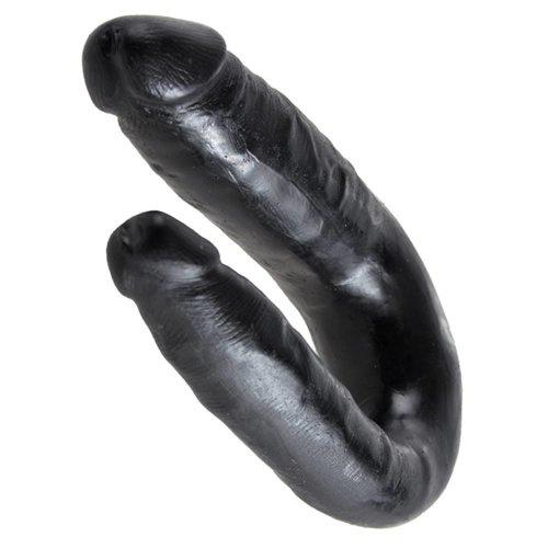 King Cock King Cock Double Trouble 33,5 cm - klein, zwart