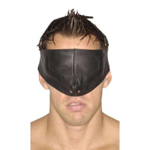 Strict Leather Zwart bondage en sm gezichtsmasker