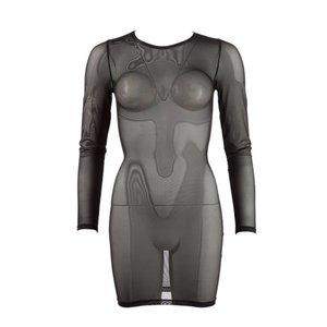 Cottelli Collection Doorzichtige jurk met lange mouwen
