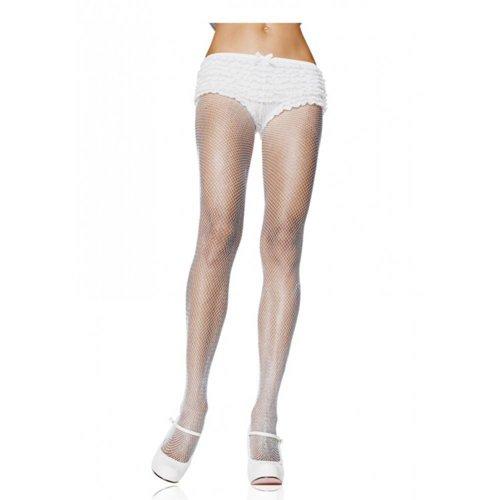 Leg Avenue Witte Nylon Visnet Panty