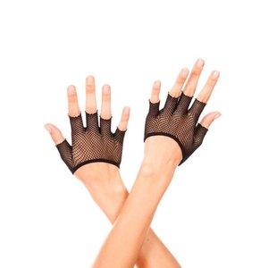 Music Legs Korte Vingerloze Visnet Handschoenen - Zwart