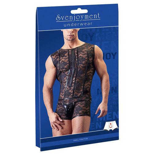 Svenjoyment Underwear Netstof Body Met Bloemenpatroon
