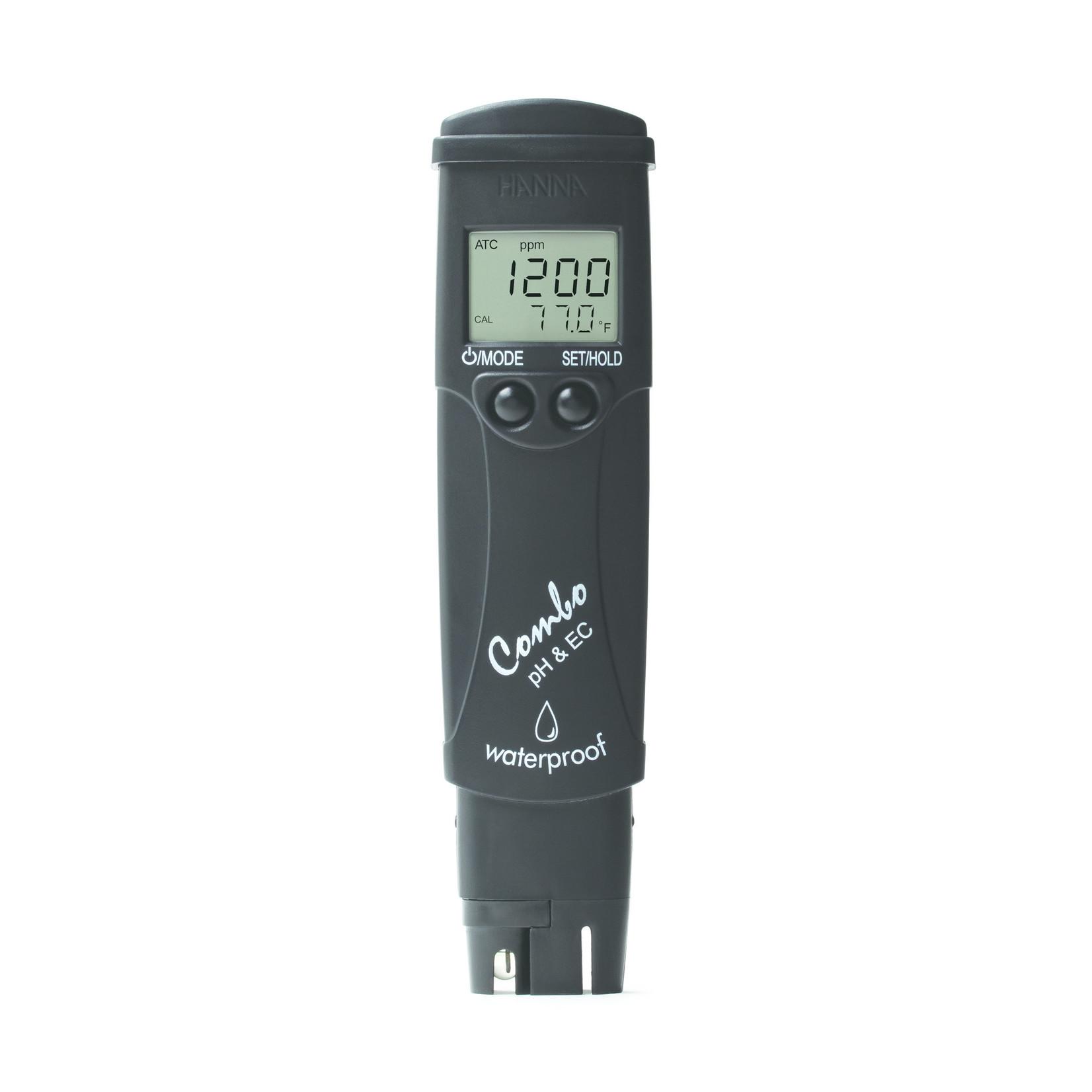 Hanna Instruments HI98130 pH/EC/TDS/temp.-tester, 0-14 pH, EC: 0.00 - 20.00 mS/cm