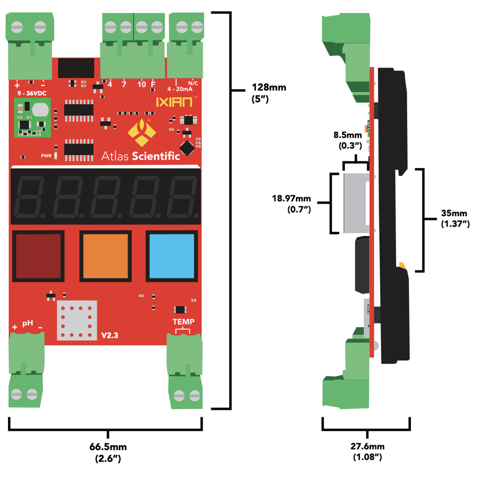 Atlas Scientific Ezo IXIAN™ pH Transmitter