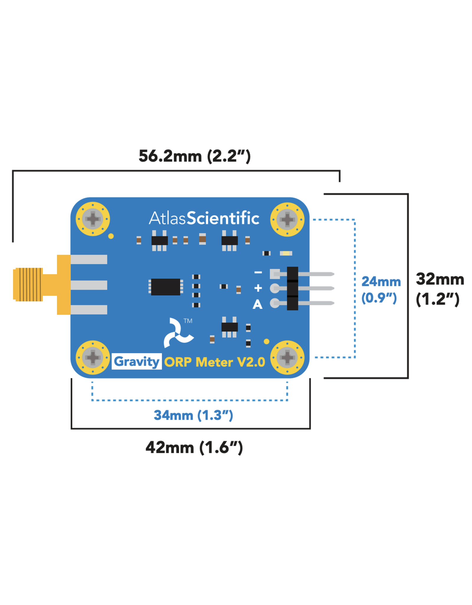 Atlas Scientific Gravity™ Analog ORP Sensor / Meter