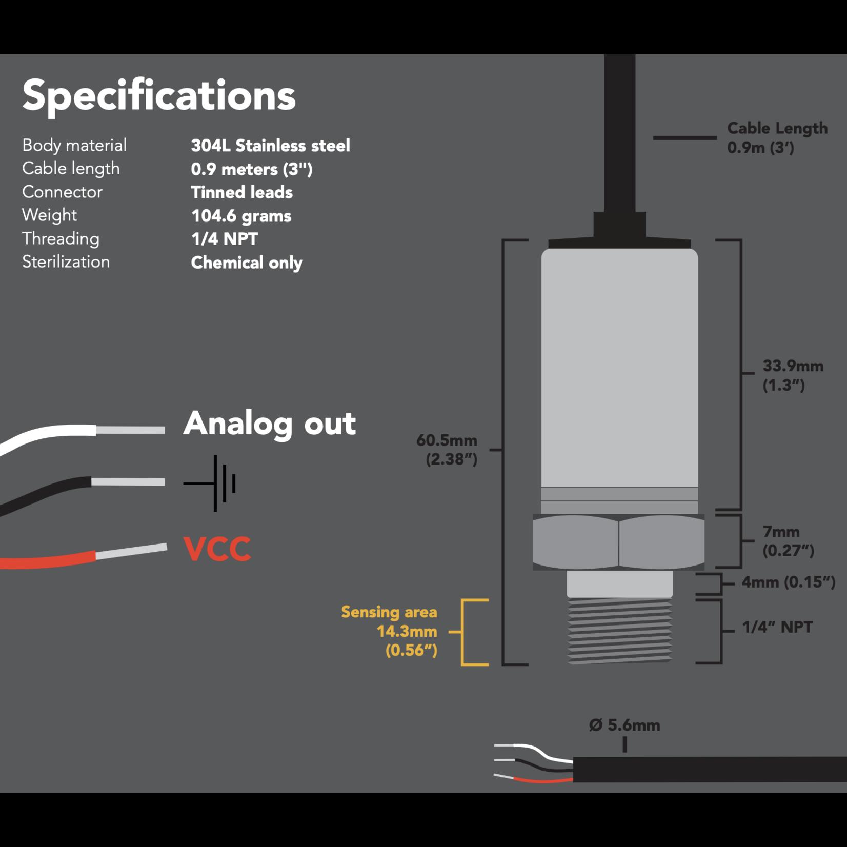 Atlas Scientific A-10 Analog Pressure sensor