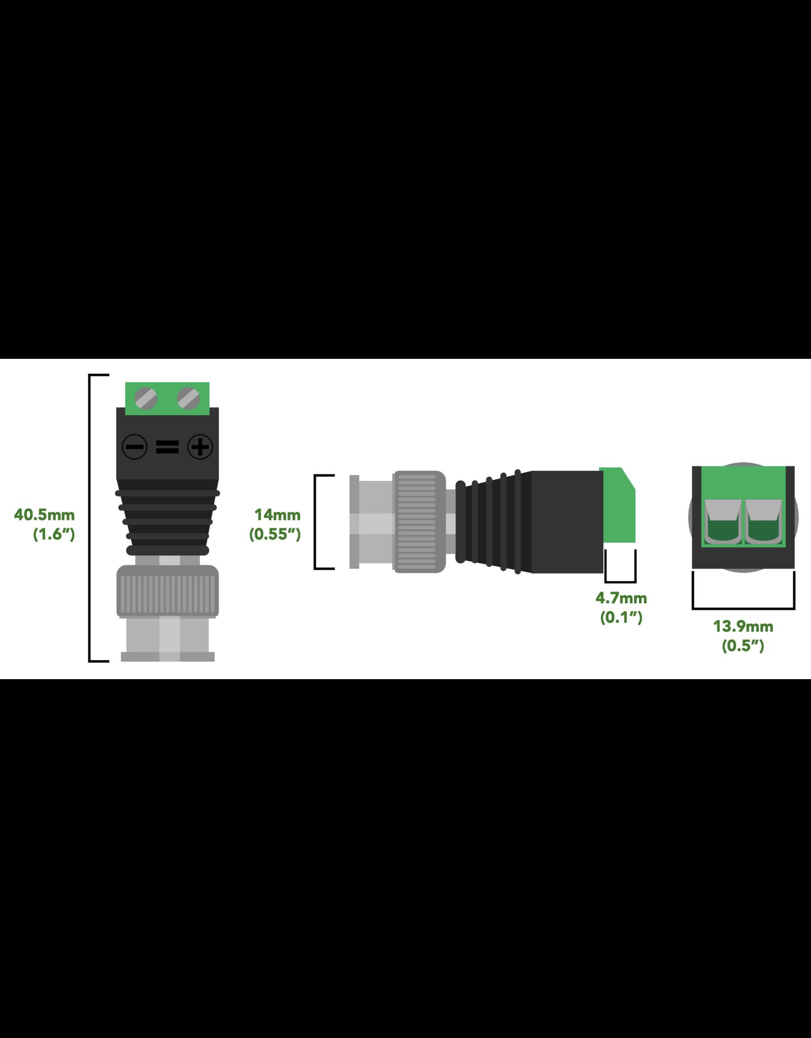 Atlas Scientific  Male & Female BNC connector met draadklem verbinding (2 pack)