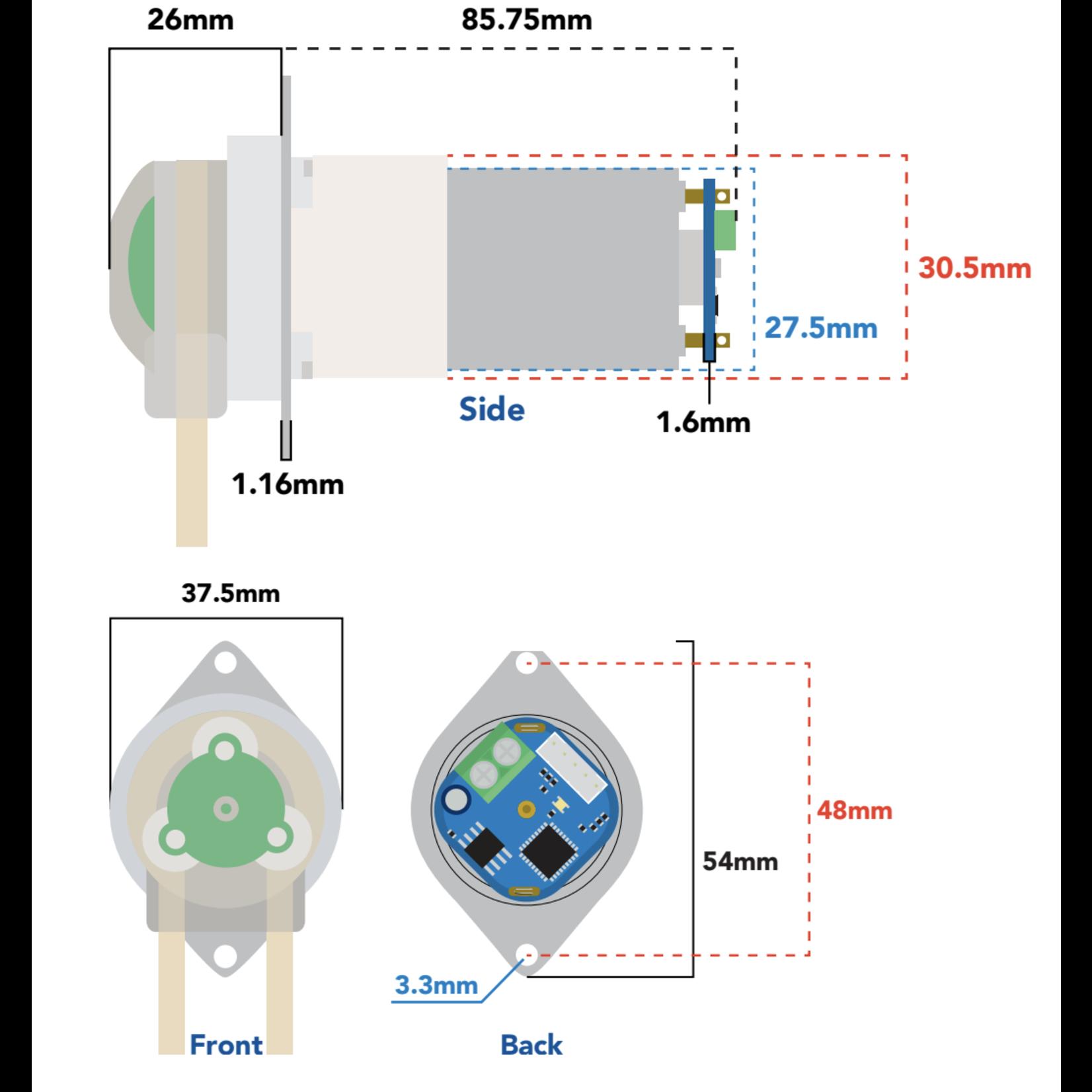 Atlas Scientific Vervangings cassette doseerpomp EZO-PMP™