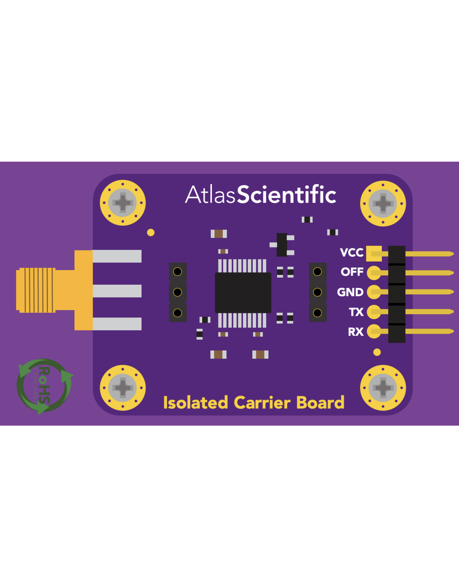 Atlas Scientific Electrisch geisoleerde EZO™ Carrier Board