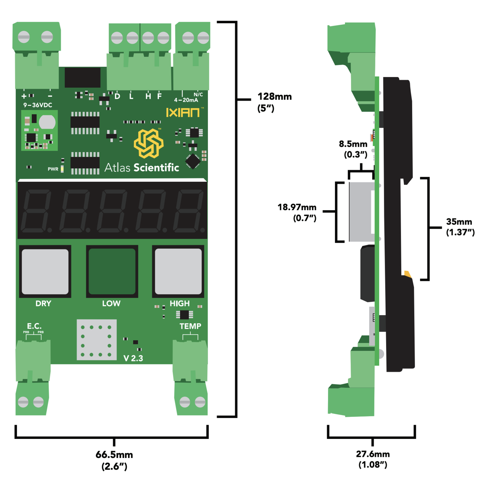 Atlas Scientific  Industrial Geleidbaarheid sensor K 1.0
