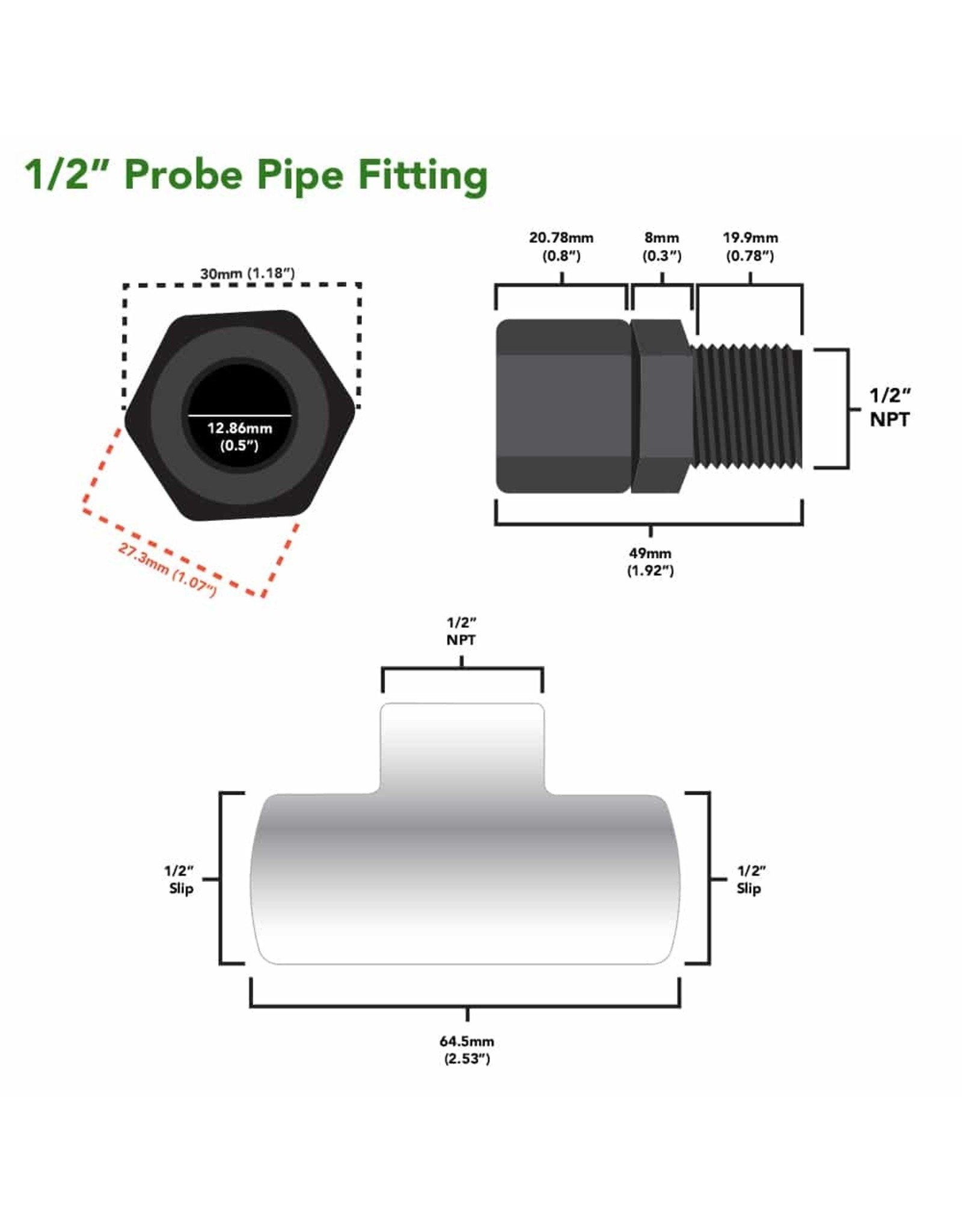 Atlas Scientific Probe Pipe Fitting
