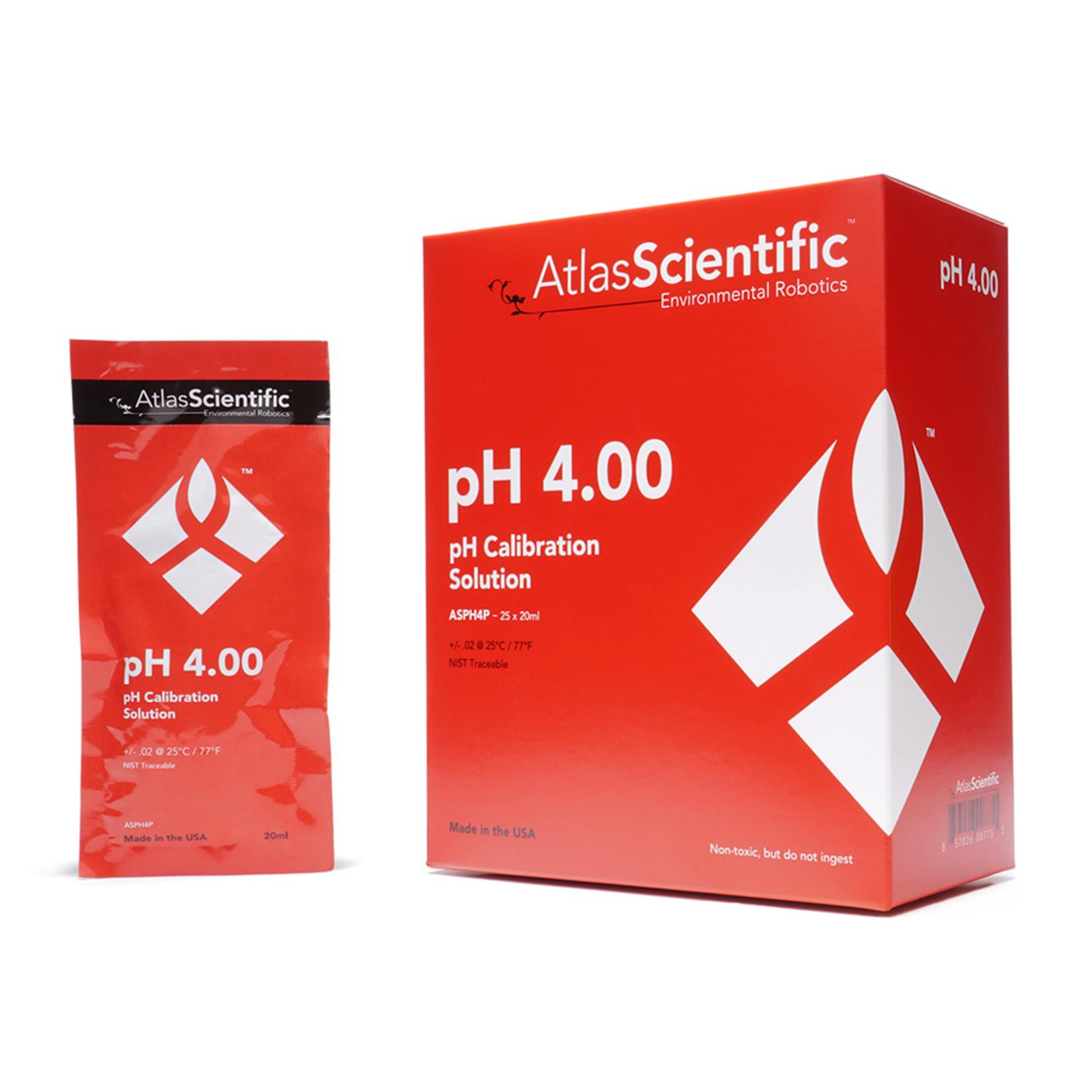 Atlas Scientific pH 4.00 kalibratieoplossing zakjes (Doos van 25)