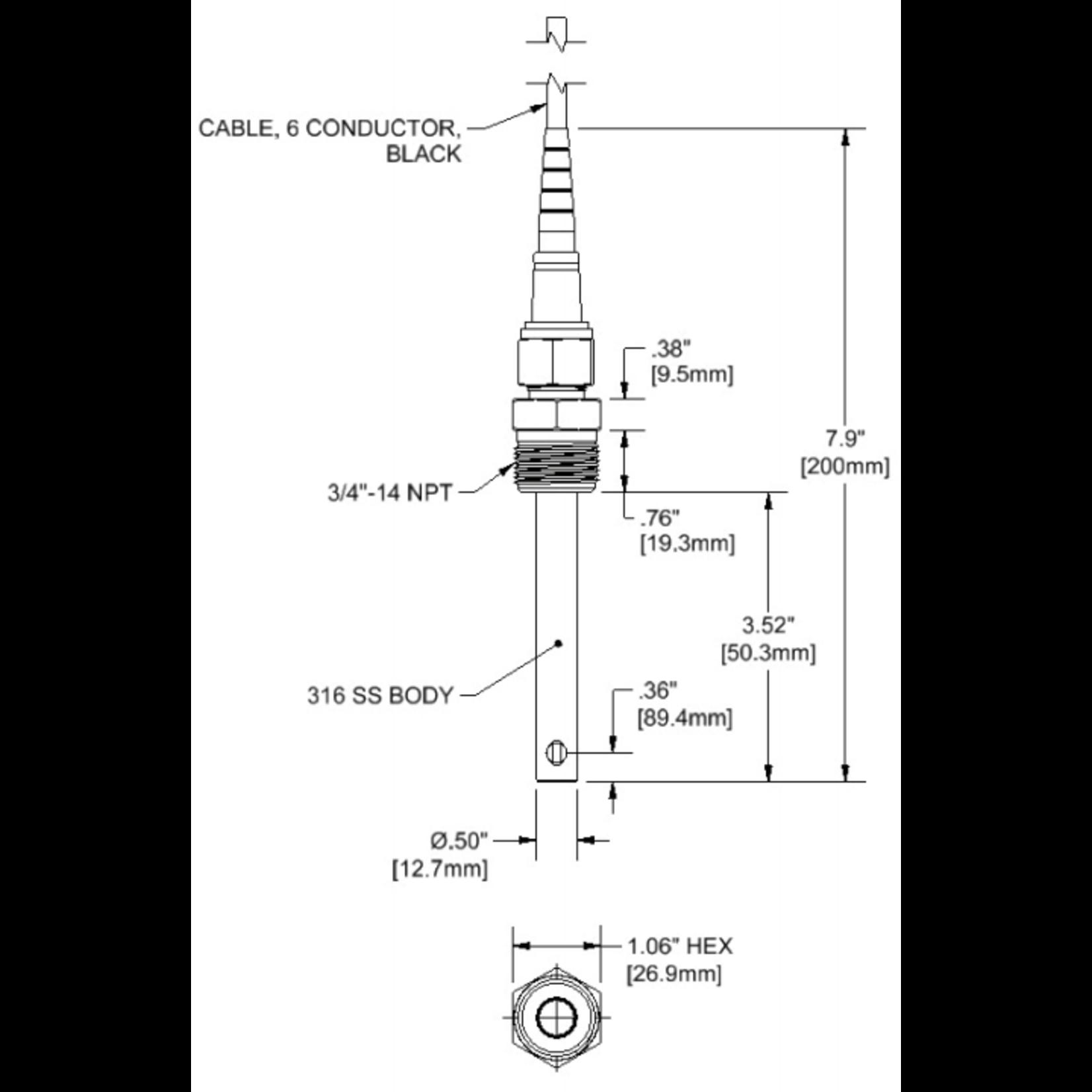Sensorex CS700 Geleidbaarheid sensor K 1.0