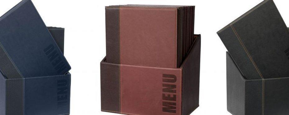 """Speisenkarte und -box """"Elite"""""""
