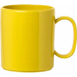 """Becher """"Colour"""" mit Henkel gelb"""