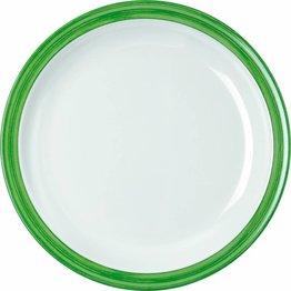 """Teller flach """"Colour"""" Ø23,5cm Melamin  grün"""