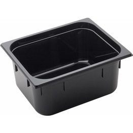 GN Behälter 1/2 Polycarbonat schwarz T: 150mm, 10,8L - NEU