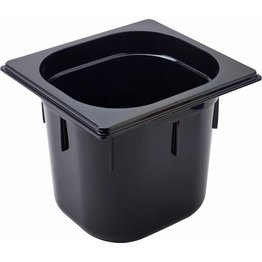 GN Behälter 1/6 Polycarbonat schwarz T: 150mm, 3,2L - NEU