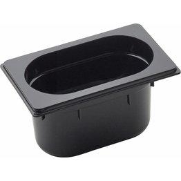 GN Behälter 1/9 Polycarbonat schwarz T: 100mm, 1,3L