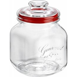 "Vorratsglas ""Country Gourmet"" eckig mit Glasdeckel Ø10cm 1,7 L"