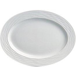 "Hotelporzellan ""Curved"" Platte oval, 32,5 cm"