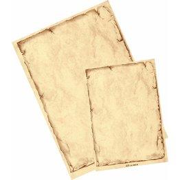 "Marmorpapier ""Classic"" Chamois mit Rahmen A4 50 Blatt"