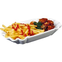 "Pommesschale ""Snack Line"" Porzellan 25,4x14,5cm"