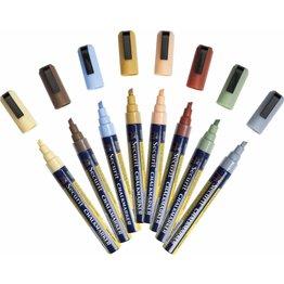 Kreidemarker-Set, erdfarben