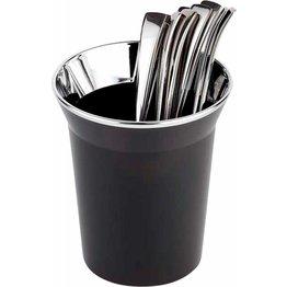 Tischabfallbehälter/Besteckbehälter schwarz