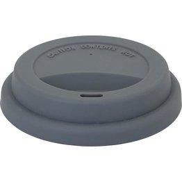 Silikondeckel für Coffee to Go Becher grau, zu 0,3 L