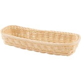 Korb Besteck rechteckig 27x11x4,5cm beige - NEU