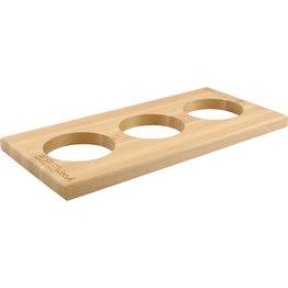 """Buffetsystem """"Wood"""" GN 1/3  Aufsatz 2cm mit 3 Aussparungen Ø 10cm - NEU"""