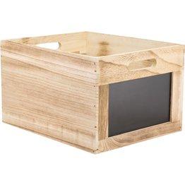 Holzbox mit Kreidetafel - NEU